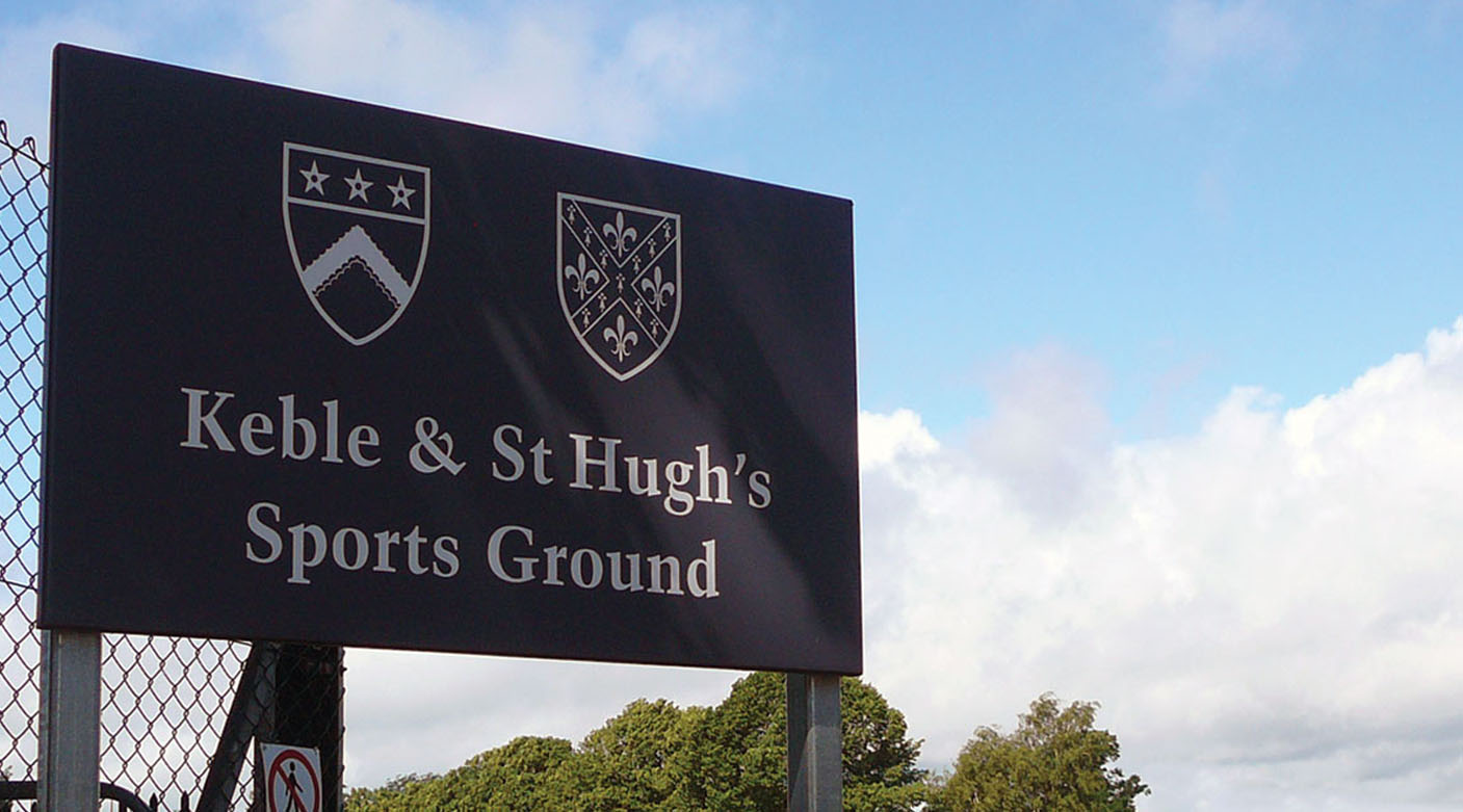 Keble College signage