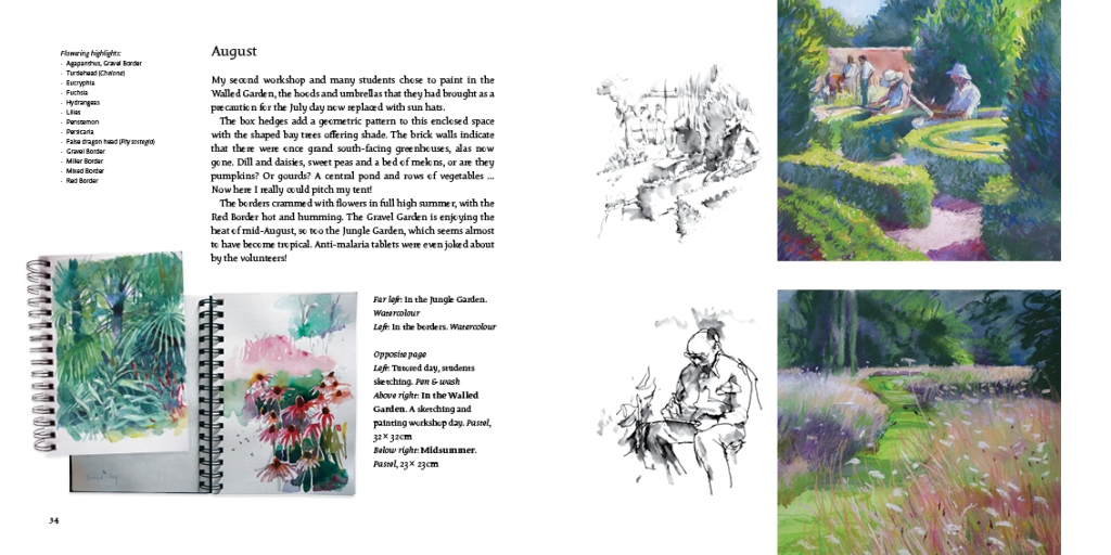 An Artist's Year in the Harris Garden by Jenny Halstead
